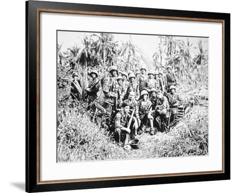 US Marine Raiders, Cape Torokina, Bougainville, November 1943--Framed Art Print