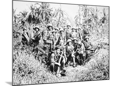US Marine Raiders, Cape Torokina, Bougainville, November 1943--Mounted Photographic Print