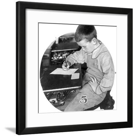 Angus Gowans, First Boy Received at Clayton College, C.1911--Framed Art Print