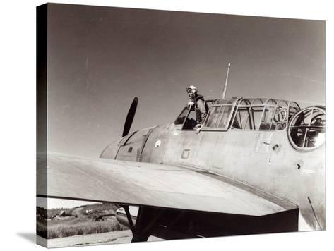 Us Navy Pilot, Lt. George Gay, Guadalcanal, May 1943--Stretched Canvas Print