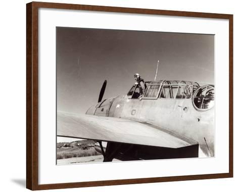 Us Navy Pilot, Lt. George Gay, Guadalcanal, May 1943--Framed Art Print