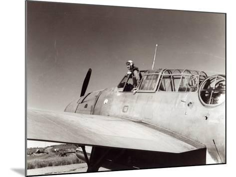 Us Navy Pilot, Lt. George Gay, Guadalcanal, May 1943--Mounted Photographic Print