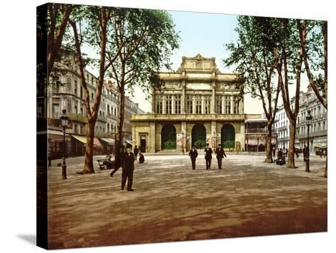 The Municipal Theatre at Béziers, France, 1890-1900--Stretched Canvas Print