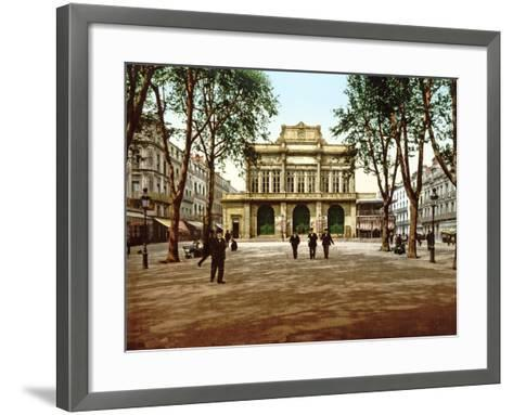 The Municipal Theatre at Béziers, France, 1890-1900--Framed Art Print