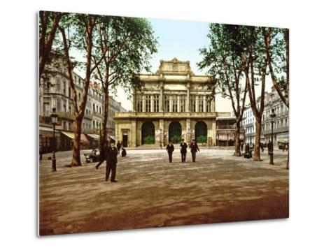 The Municipal Theatre at Béziers, France, 1890-1900--Metal Print