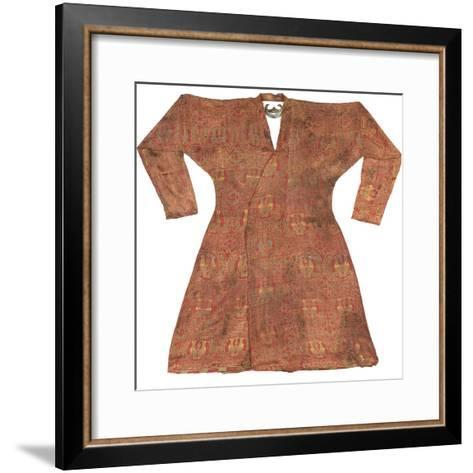 Brightly Coloured Seljuk Lampas Robe, Central Asia, 11th - 12th Century--Framed Art Print