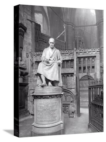 Monument to James Watt in St Paul's Chapel, Westminster Abbey, London-Frederick Henry Evans-Stretched Canvas Print