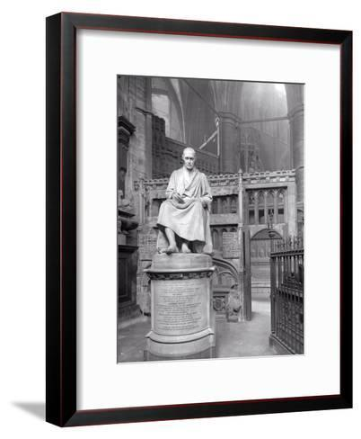 Monument to James Watt in St Paul's Chapel, Westminster Abbey, London-Frederick Henry Evans-Framed Art Print