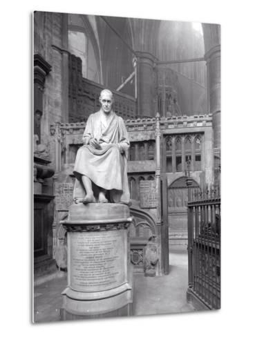 Monument to James Watt in St Paul's Chapel, Westminster Abbey, London-Frederick Henry Evans-Metal Print