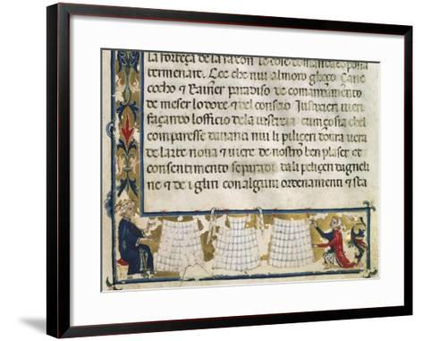 Leather Processing and Manufacture, Miniature from the Mariegola--Framed Art Print