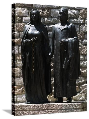 Monument Depicting St Francis' Parents, Chiesa Nuova, Assisi--Stretched Canvas Print