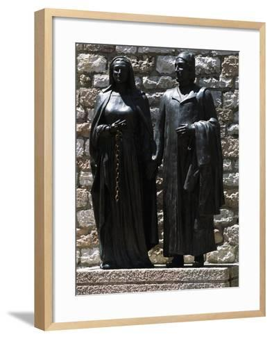 Monument Depicting St Francis' Parents, Chiesa Nuova, Assisi--Framed Art Print