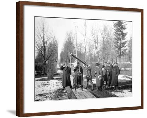 Pulkovo Observatory During the Solar Eclipse of 1912, 1912--Framed Art Print