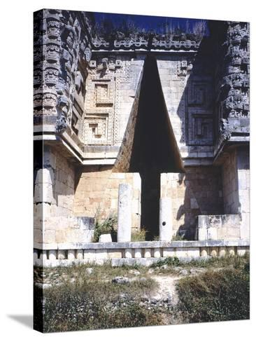 The Arch of the Governor's Palace, Archaeological Site in Uxmal--Stretched Canvas Print