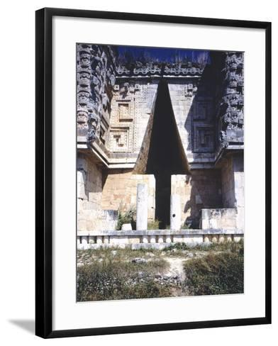The Arch of the Governor's Palace, Archaeological Site in Uxmal--Framed Art Print