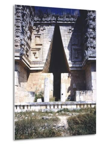 The Arch of the Governor's Palace, Archaeological Site in Uxmal--Metal Print