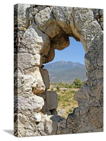Temple of Artemis, View Through the Window, Xanthos, Turkey--Stretched Canvas Print