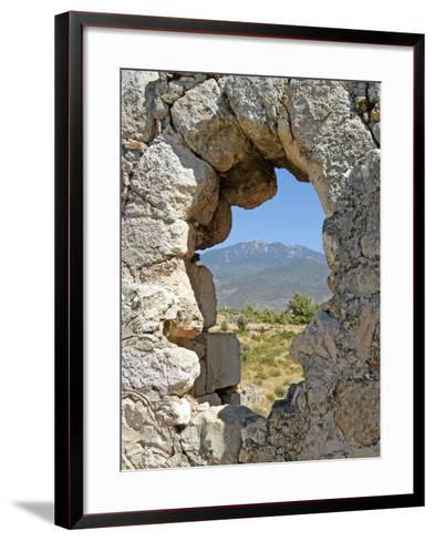 Temple of Artemis, View Through the Window, Xanthos, Turkey--Framed Art Print