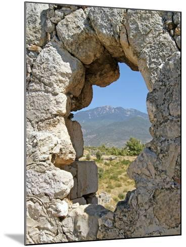 Temple of Artemis, View Through the Window, Xanthos, Turkey--Mounted Photographic Print