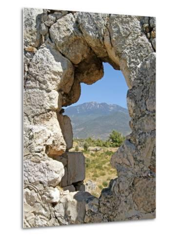 Temple of Artemis, View Through the Window, Xanthos, Turkey--Metal Print