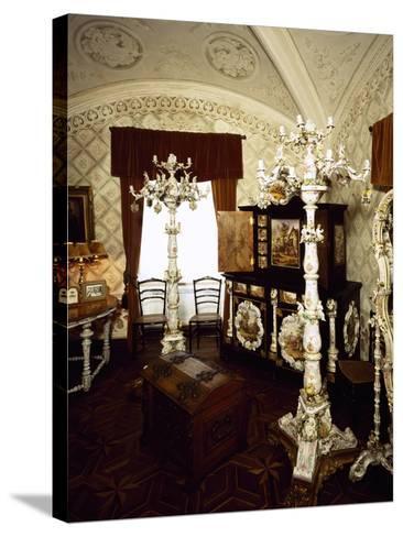 Saxony Porcelain Room in Palacio Nacional Da Pena, Sintra--Stretched Canvas Print