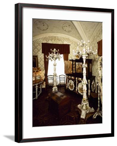 Saxony Porcelain Room in Palacio Nacional Da Pena, Sintra--Framed Art Print