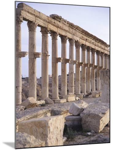 Syria, Palmyra, Colonnaded Street Near Roman Theater--Mounted Photographic Print