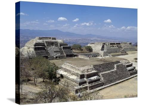 Buildings L and M, Monte Alban Archaeological Site--Stretched Canvas Print