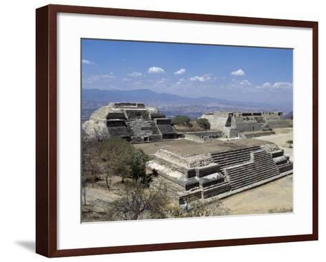 Buildings L and M, Monte Alban Archaeological Site--Framed Art Print
