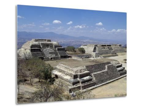 Buildings L and M, Monte Alban Archaeological Site--Metal Print
