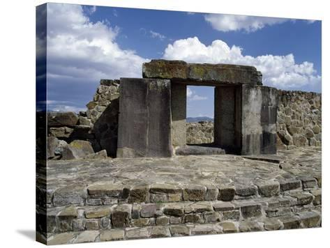 Entrance to Tomb 105, Monte Alban Archaeological Site--Stretched Canvas Print