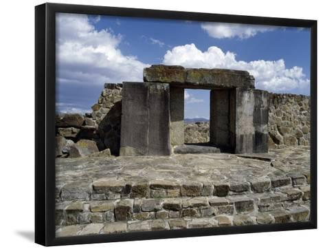 Entrance to Tomb 105, Monte Alban Archaeological Site--Framed Art Print