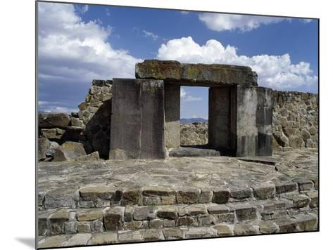 Entrance to Tomb 105, Monte Alban Archaeological Site--Mounted Photographic Print