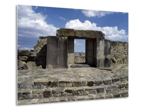 Entrance to Tomb 105, Monte Alban Archaeological Site--Metal Print
