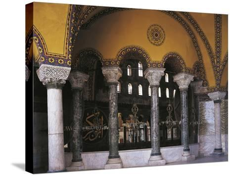 Hagia Sophia Tribune Gallery, Historic Areas of Istanbul--Stretched Canvas Print