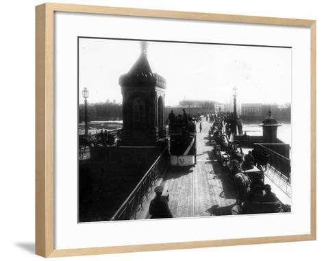 Crossing the Nicholas Bridge from Vasilievsky Island, St Petersburg, 1903--Framed Art Print