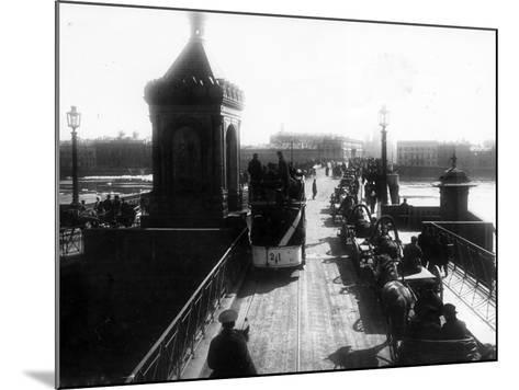 Crossing the Nicholas Bridge from Vasilievsky Island, St Petersburg, 1903--Mounted Photographic Print