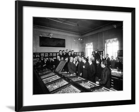 Professors at the Geological and Mineralogical Museum of St. Petersburg--Framed Art Print