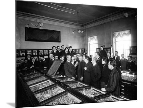 Professors at the Geological and Mineralogical Museum of St. Petersburg--Mounted Photographic Print