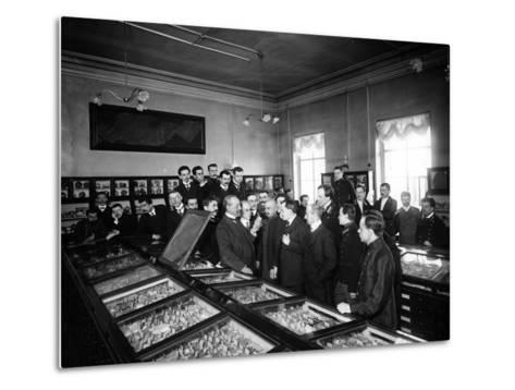 Professors at the Geological and Mineralogical Museum of St. Petersburg--Metal Print