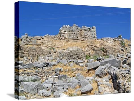The Foundations of the Removed Nereid Monument, Xanthos, Turkey--Stretched Canvas Print