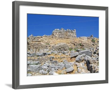The Foundations of the Removed Nereid Monument, Xanthos, Turkey--Framed Art Print