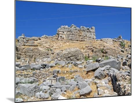 The Foundations of the Removed Nereid Monument, Xanthos, Turkey--Mounted Photographic Print
