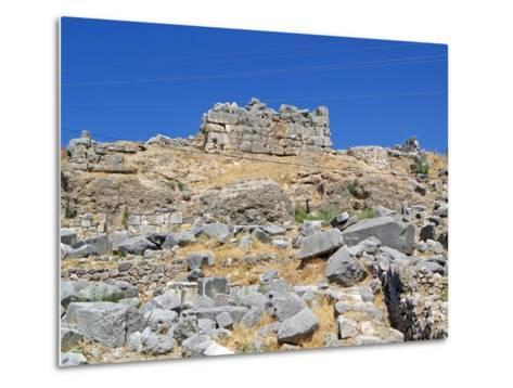 The Foundations of the Removed Nereid Monument, Xanthos, Turkey--Metal Print