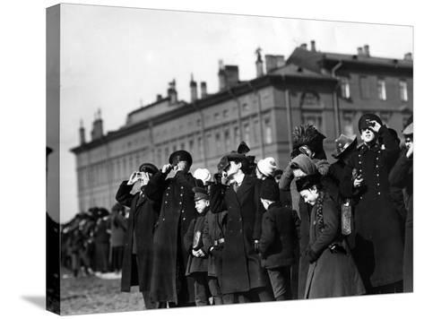 Saint Petersburg Residents Watching a Full Solar Eclipse, 1912--Stretched Canvas Print