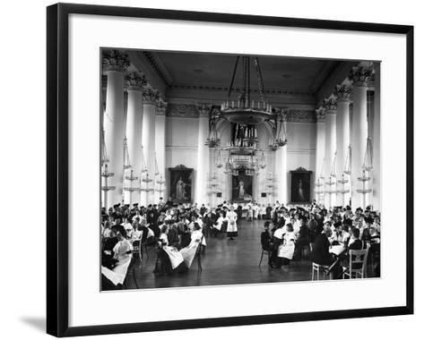 Visiting Day at the Smolny Institute, St. Petersburg--Framed Art Print