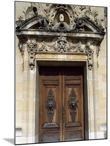Door with Decorative Relief, Palace of Fontainebleau--Mounted Photographic Print