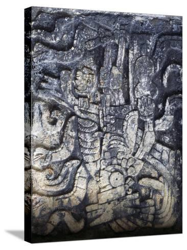 Human Figure, Relief of the Temple of the Jaguars, Chichen Itza--Stretched Canvas Print
