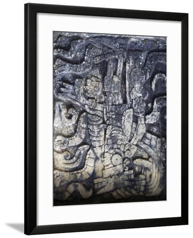 Human Figure, Relief of the Temple of the Jaguars, Chichen Itza--Framed Art Print