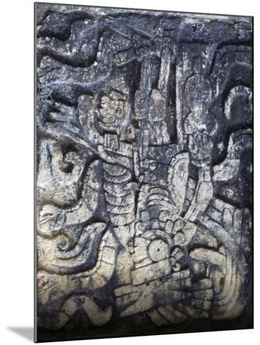 Human Figure, Relief of the Temple of the Jaguars, Chichen Itza--Mounted Photographic Print